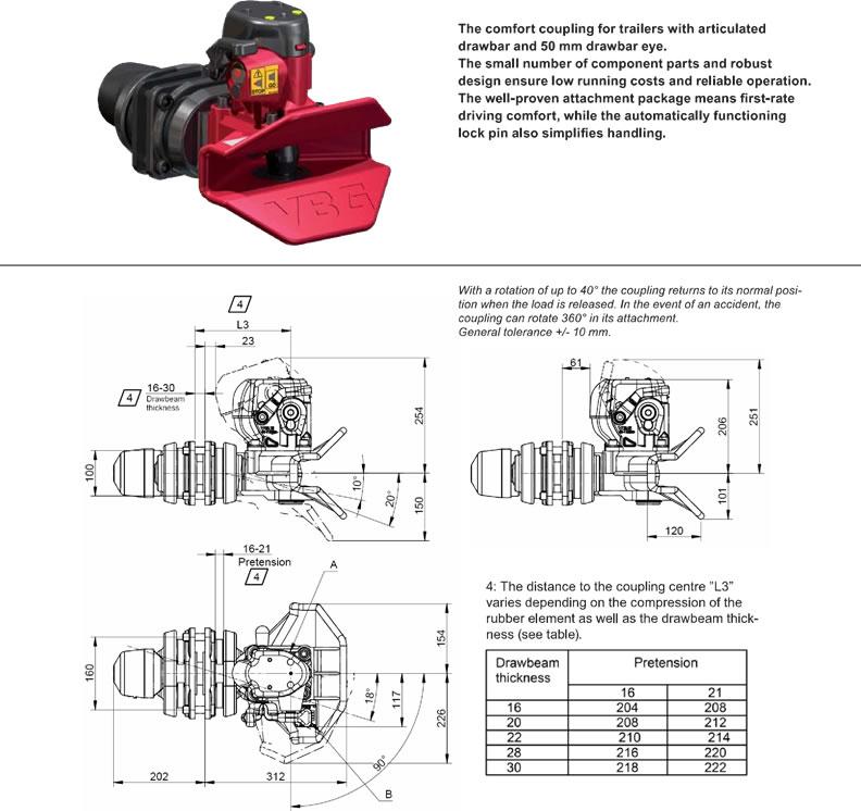 фаркоп VBG 8500